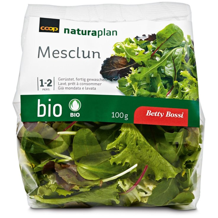 Pre-Packaged Fresh Salads - Naturaplan Organic Betty Bossi Mesclun Salad