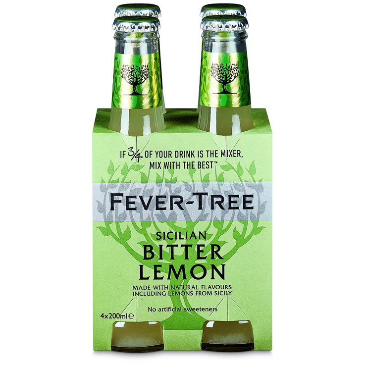 Bitter & Tonic Water - Fever Tree Lemon Tonic Water 4x20cl