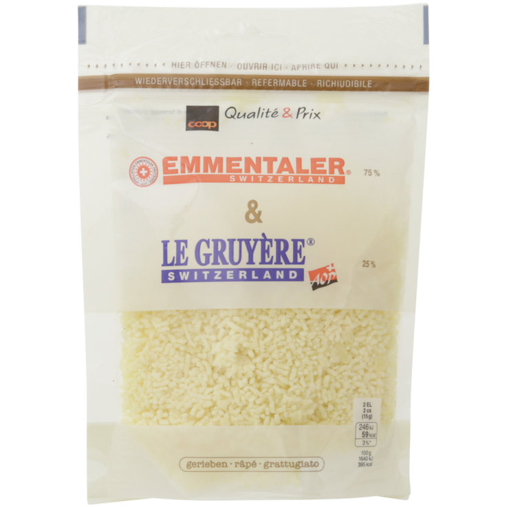 Grated Cheese - Emmental & Gruyere Grated Cheese