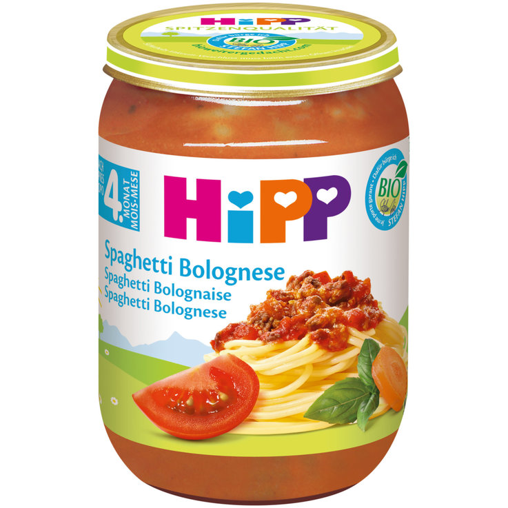 Vegetable Baby Food - Hipp Organic Spaghetti Bolognese Puree 4 Months+