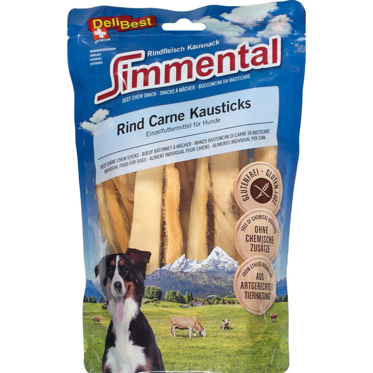Bones and Chew Toys - DeliBest Simmental Beef Chew Sticks 200 g
