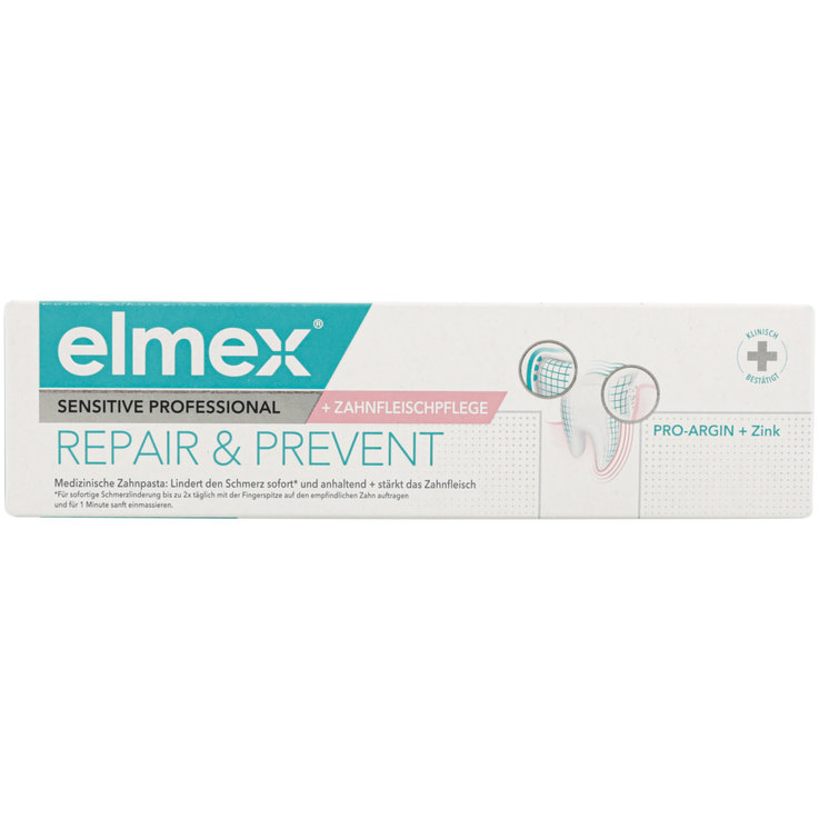Dentifrice pour adultes - Elmex Dentifrice Sensitive Professional Repair & Prevent