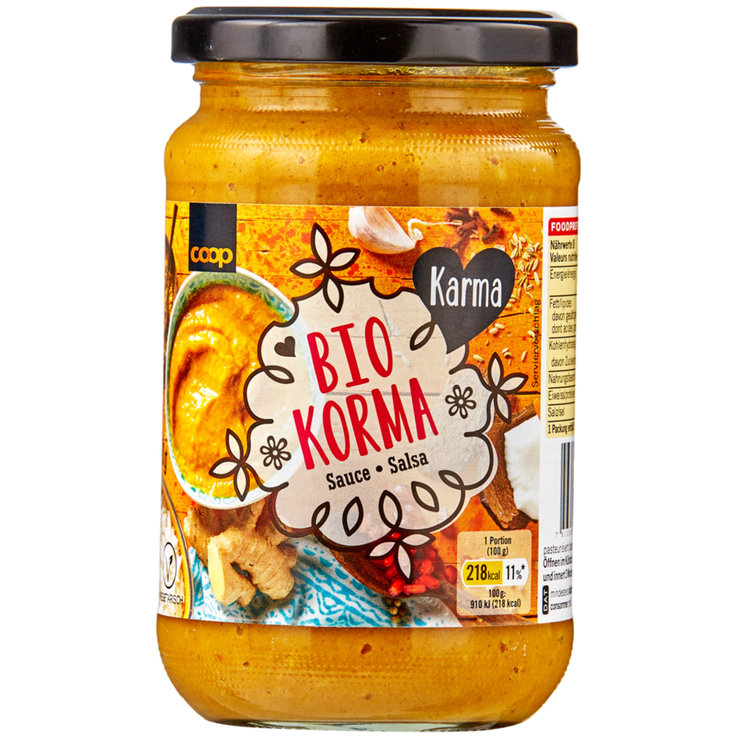 Salse al curry - Salsa Bio Korma Karma