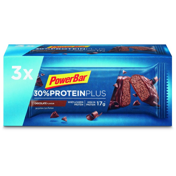 Bars with Chocolate - PowerBar 30% Protein Plus Chocolate Energy Bars 3x55g