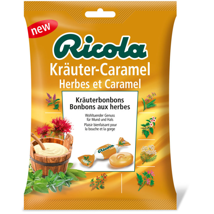 Herbal & Cough Sweets - Ricola Herb & Caramel Lozenges