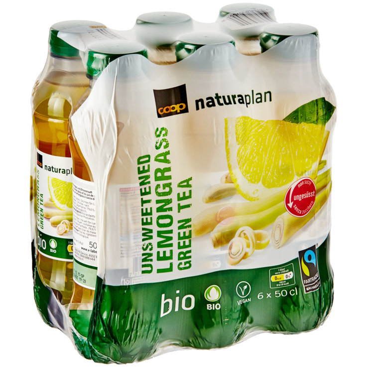 Multipacks unter 1 Liter - Naturaplan Bio Fairtrade Ice Tea Lemongrass Greentea ungesüsst 6x50cl