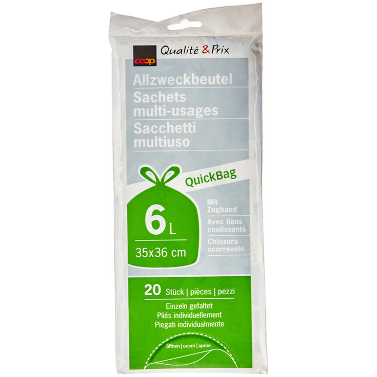 Waste bags not chargeable - Quick Bag Garbage Bags 35x36cm 6 Liters 20 Pieces