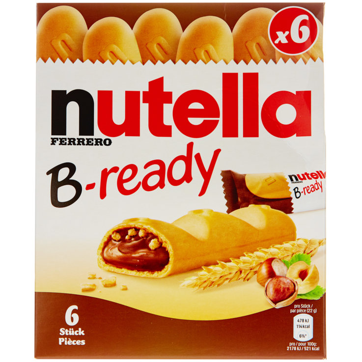 Snacks au chocolat - Nutella Barres B-Ready 6 pièces