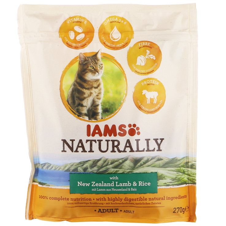 Dry Food - IAMS® Naturally with New Zealand Lamb & Rice for Adult Cats