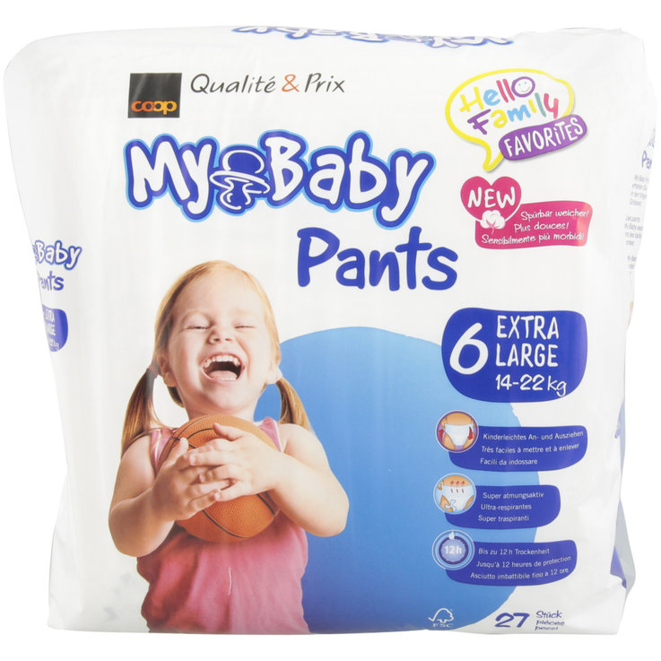 Protective Sheet & Pants - My Baby 6 Pants 14-22kg 27 Pieces