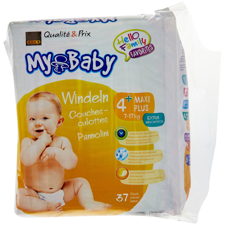 7 - 20 kg - My Baby 4 Maxi+ Diapers 7-17kg 37 Pieces
