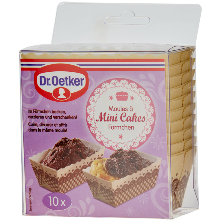 Baking Paper & Roasting Bags - Dr. Oetker Mini Cakes Holders 10 Pieces