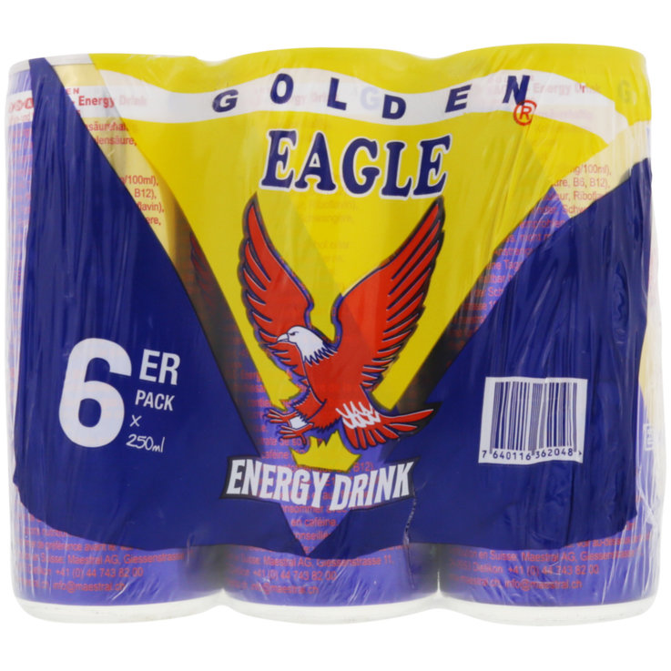 Energy drink - Golden Eagle Energy drink 6x25cl