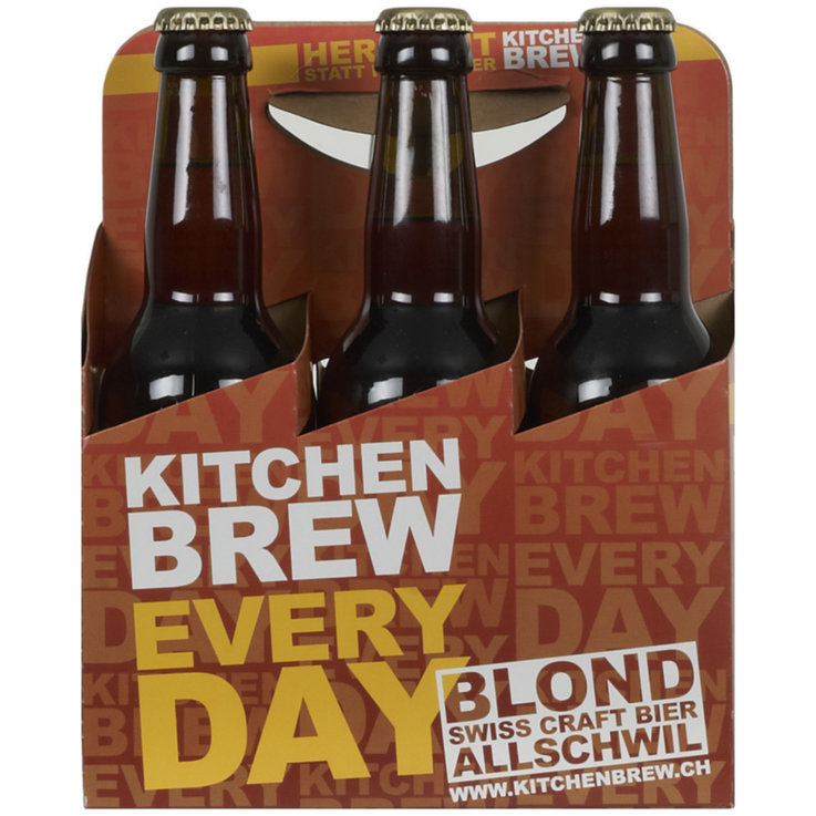Bottiglie - Birra Everyday Pale Ale Kitchen Brew, 6 x 33 cl