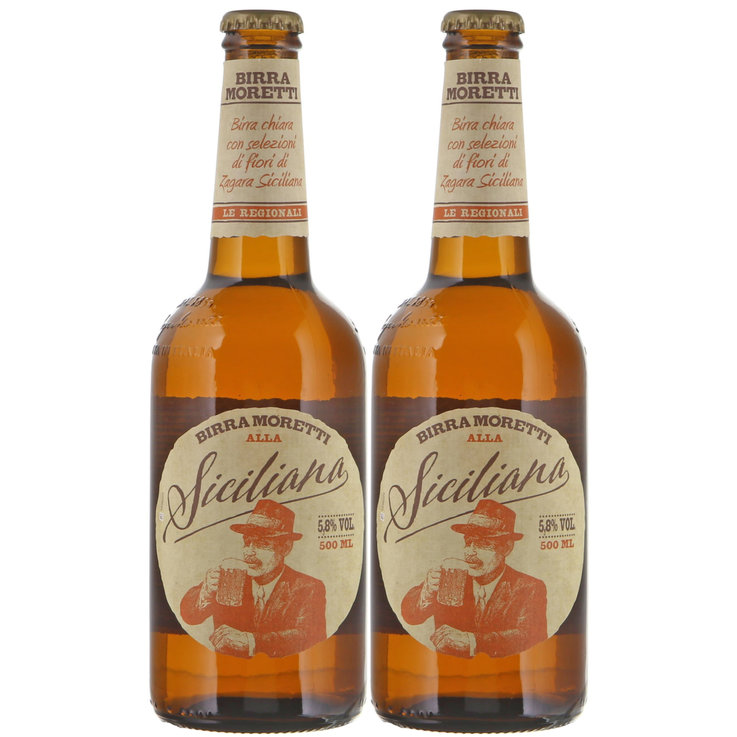 Bottles - Moretti Siciliana Beer 2x  50cl