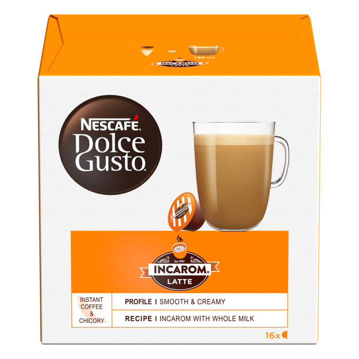 Compatible with Dolce Gusto - Nescafé Dolce Gusto Incarom Latte Coffee 16 Capsules