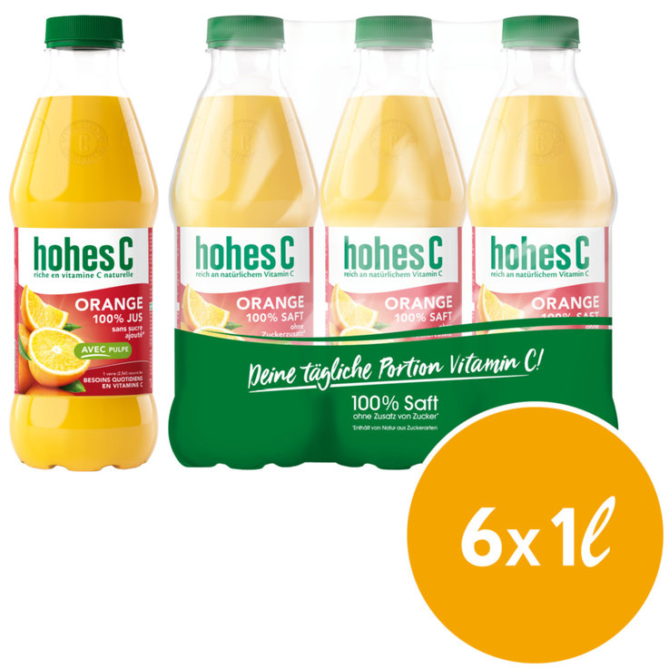 Orangensaft - Hohes C Orange Pulp 6x1l