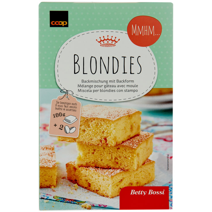 Kuchenmischungen - Betty Bossi Backmischung für Blondies