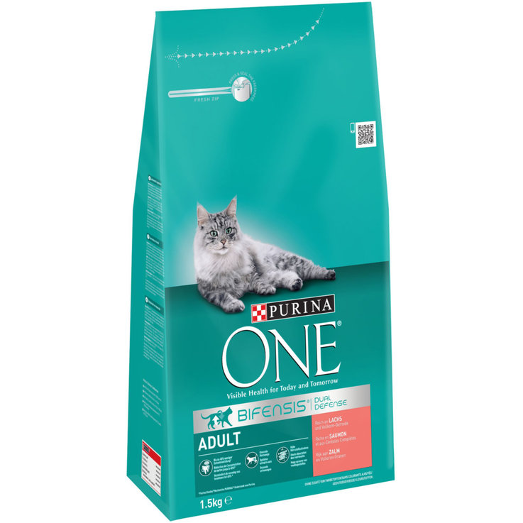 Dry Food - One Salmon & Cereal Dry Adult Cat Food