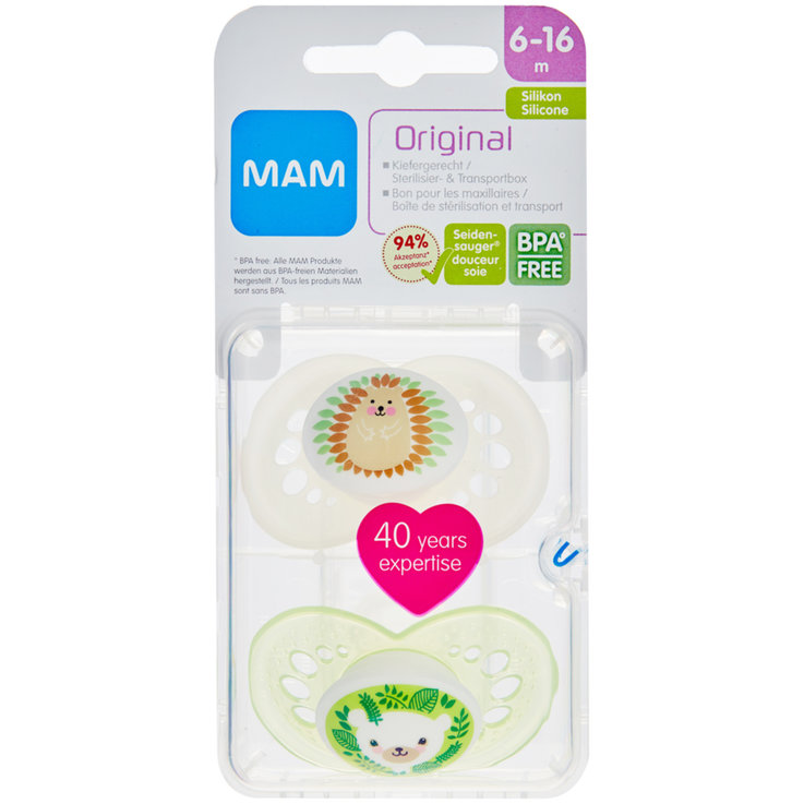 Pacifiers - MAM Original Silicone Assorted Girl Pacifiers 6-16 Months 2 Pieces