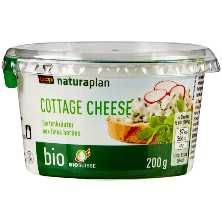 Cottage cheese - Naturaplan Bio Cottage cheese aux herbes