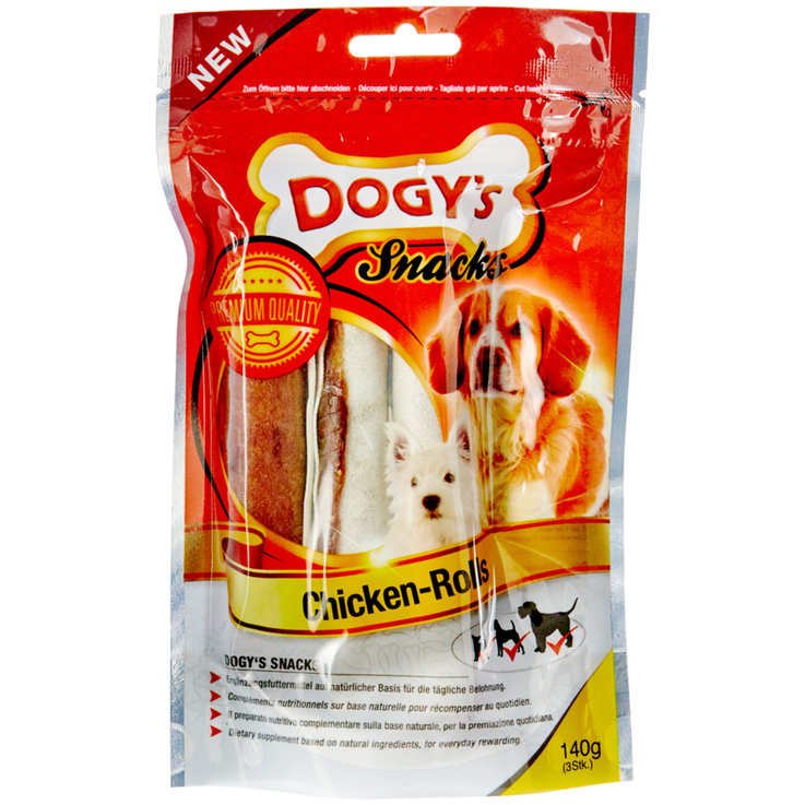 Snacks and Treats - Dogy's Chicken Rolls 140 g