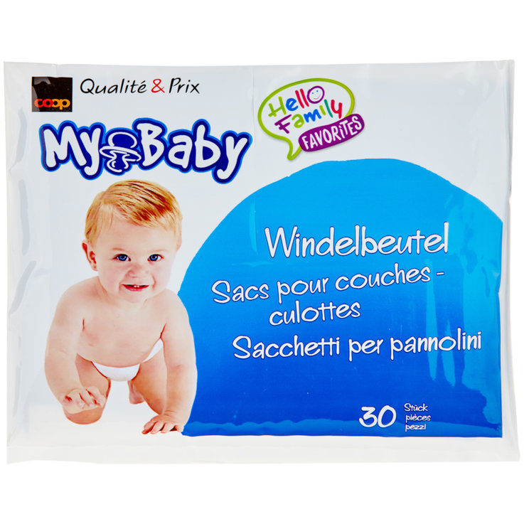 Nappy Accessories - My Baby Sensitive fragrance-free nappy bags, 30 bags