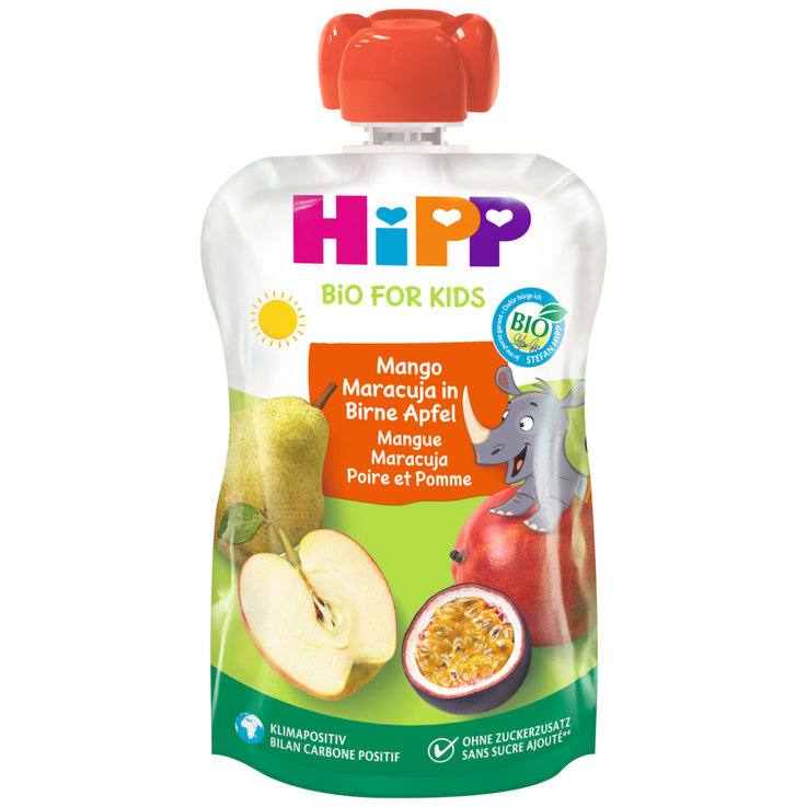 Smoothies - Hipp Hippis Mango Maracuja Pear Compote Pouch 12 Months+