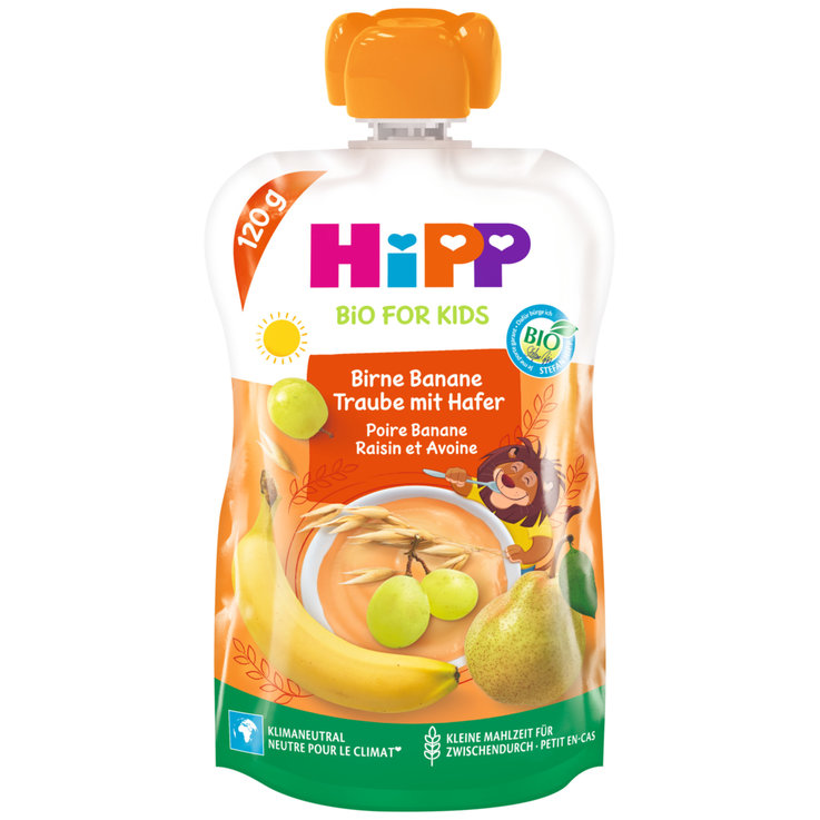 Smoothies - Hipp Hippis Sport-Drink Pear Banana Grape Oats 12+ Monate