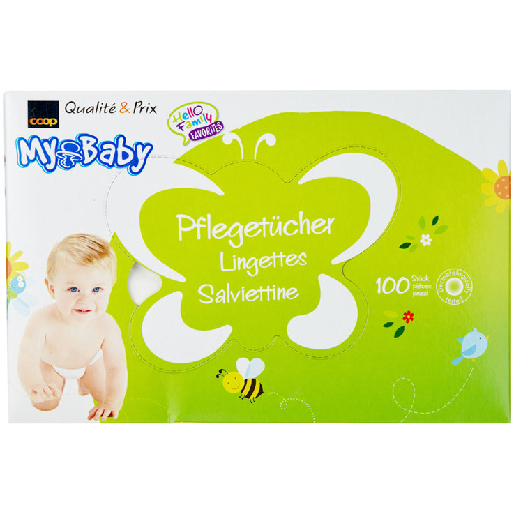 Wet Wipes - My Baby (dry) cleansing wipes, 100 wipes