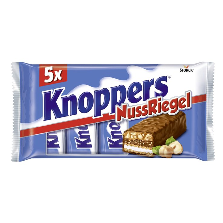 Chocolate Bars - Knoppers Milk Chocolate Wafers with Hazelnuts 5x40g