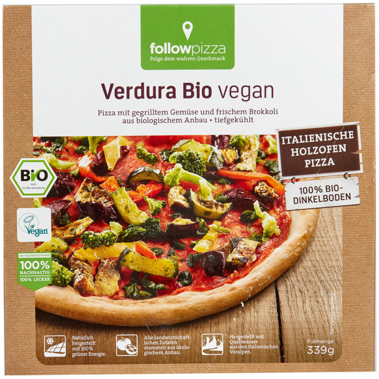 Pizza - Followfood Pizza Verdura vegan