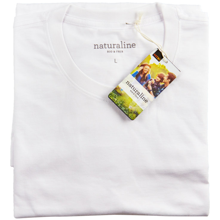 Men's shirt - Naturaline Bright White Men's T-Shirt L