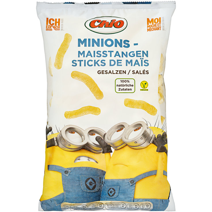 Flips & Puff-Chips - Chio Minions Corn Snacks