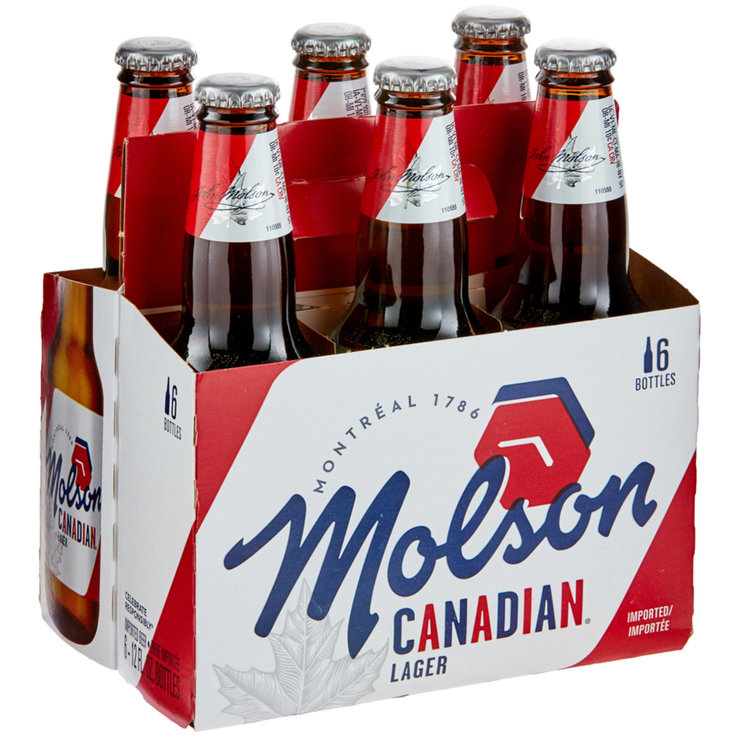 Bottles - Molson Canadian Beer 6x35.5cl