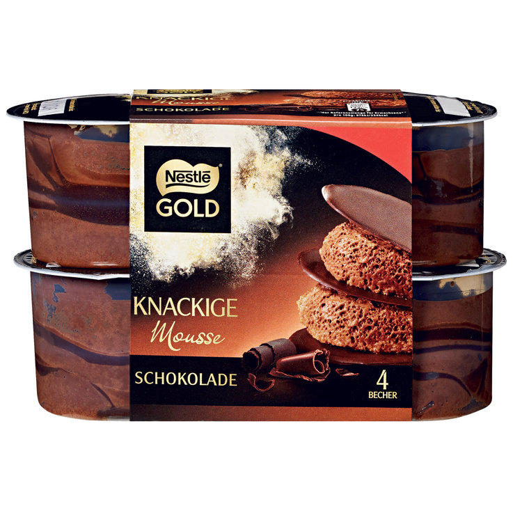 Cream & Mousse - Nestlé Gold Choco Knackige-Mousse 4x57g