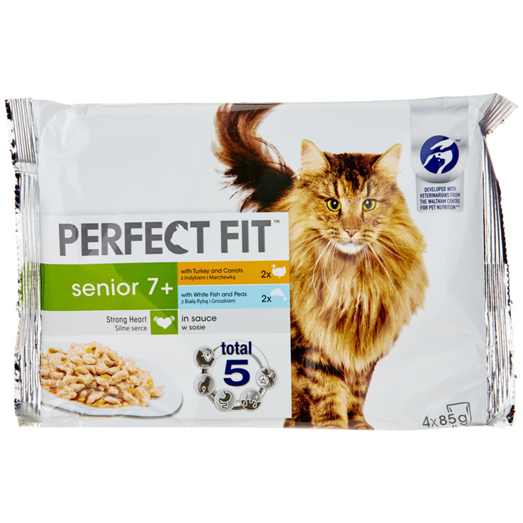 Wet Food - Perfect Fit Turkey & Carrot, White Fish & Peas Senior Food