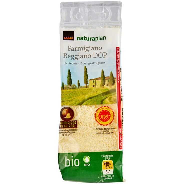 Grated Cheese - Naturaplan Organic Grated DOP Parmigiano Reggiano
