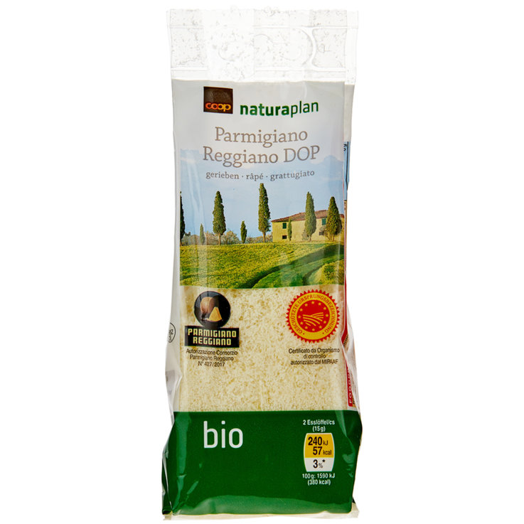 Grated Cheese - Naturaplan Organic Grated Parmigiano Reggiano