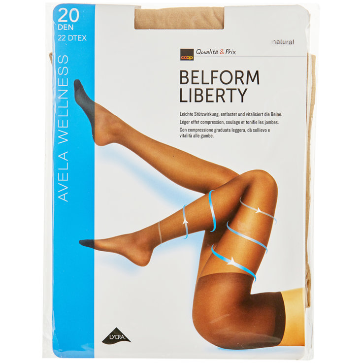 Stockings - Avela Belform Liberty 11-12 Skin Tone Tights