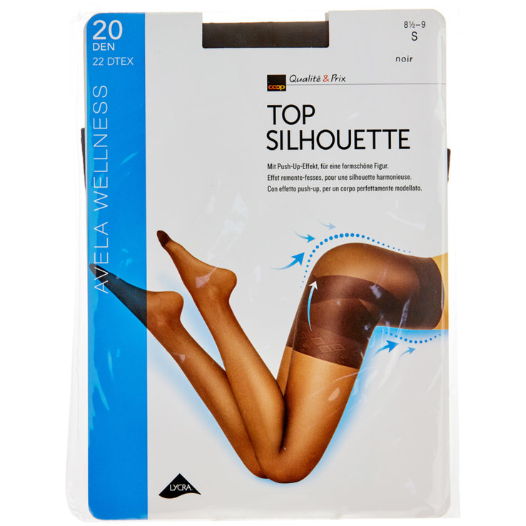 Stockings - Avela Top Silhouette 8.5-9 Black Tights