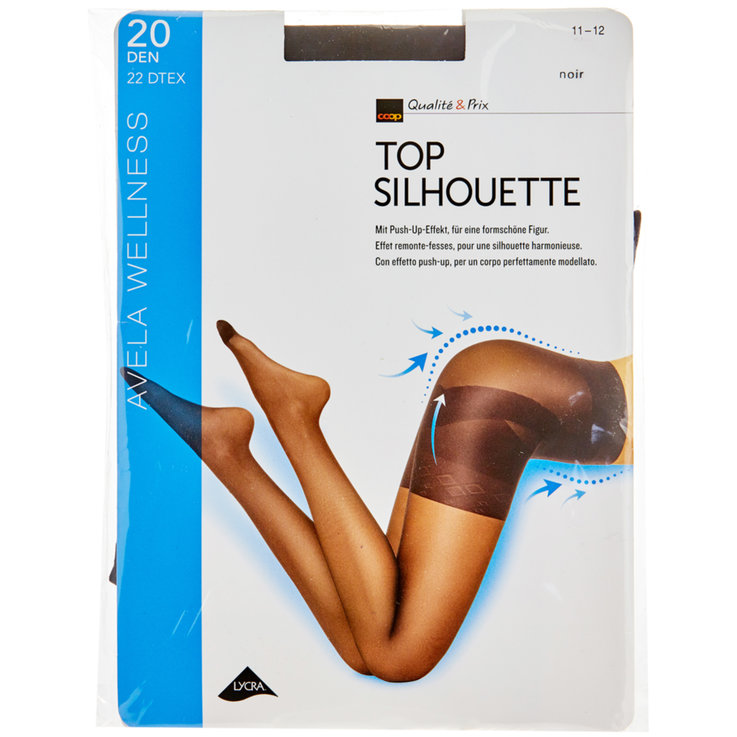 Stockings - Avela Top Silhouette 11-12 Black Tights