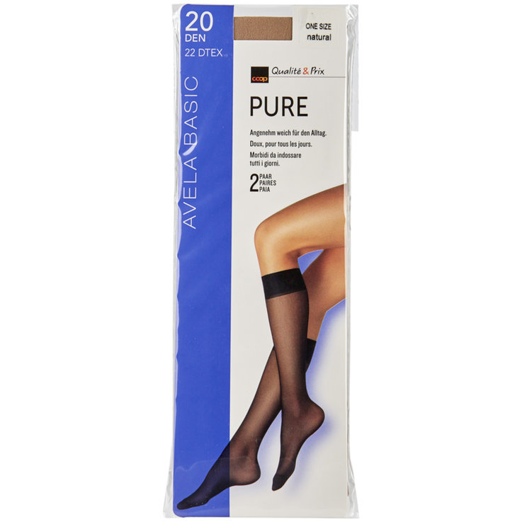 Stockings - Avela Pure One Size Skin Tone Knee Socks
