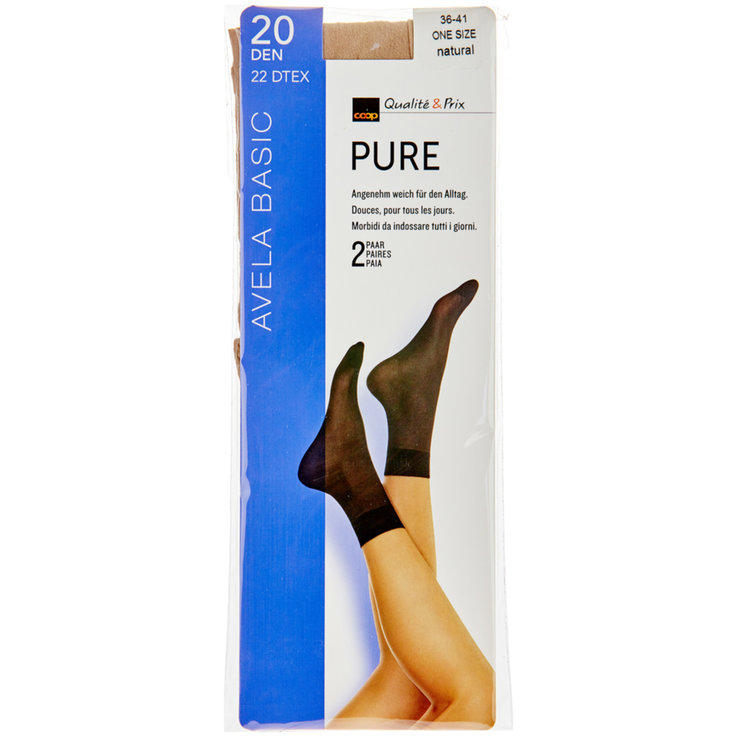 Socken - Avela Söckli Pure one size natural