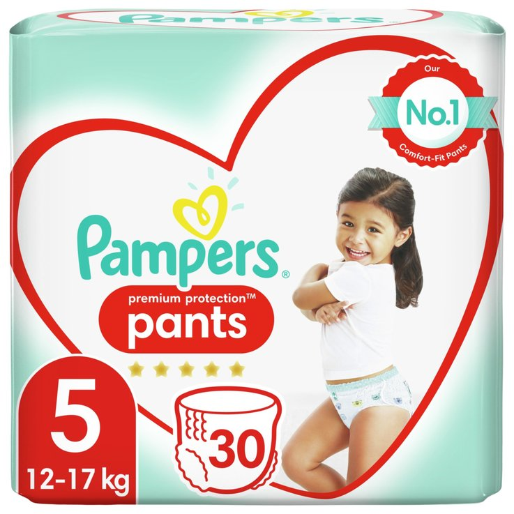 Bettunterlage & Pants - Pampers Pants Premium Protection Grösse 5, 12-17kg, 30 Stück
