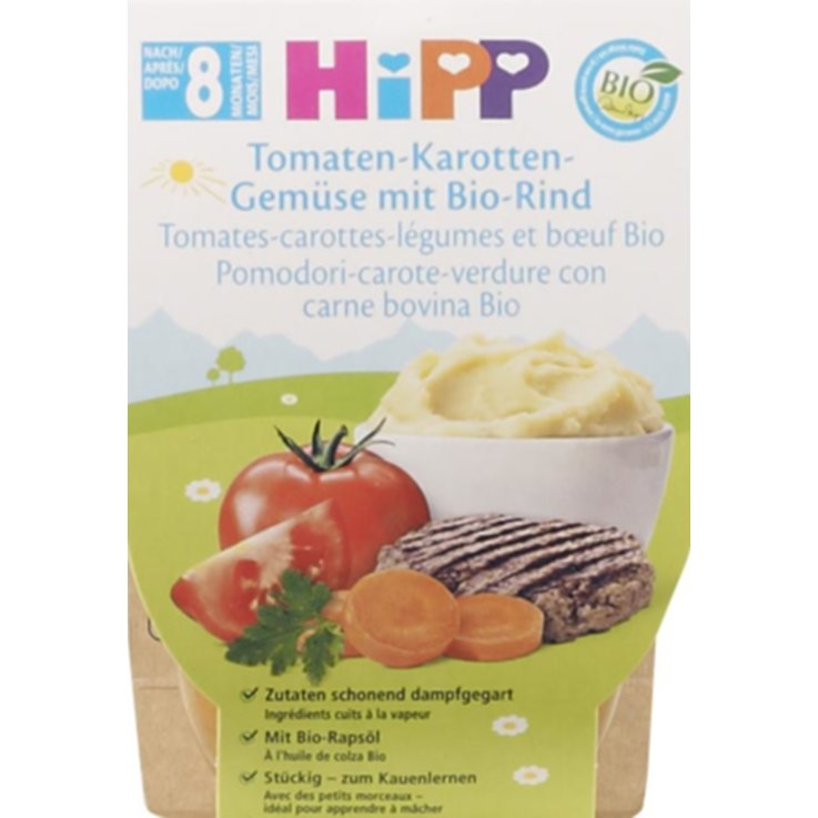 Vegetable Baby Food - Hipp Tomato Vegetable Beef Puree 8 Months+ 2x220g