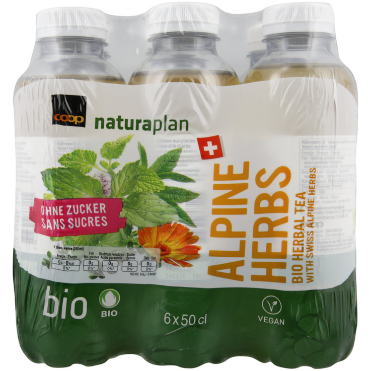 Special Ice Tea - Naturaplan Organic Unsweetened Alpen Herb Ice Tea 6x50cl