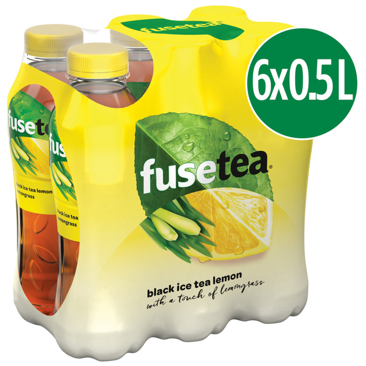 Ice Tea Lemon - Fusetea Ice Tea Lemon Lemongras 6x50cl