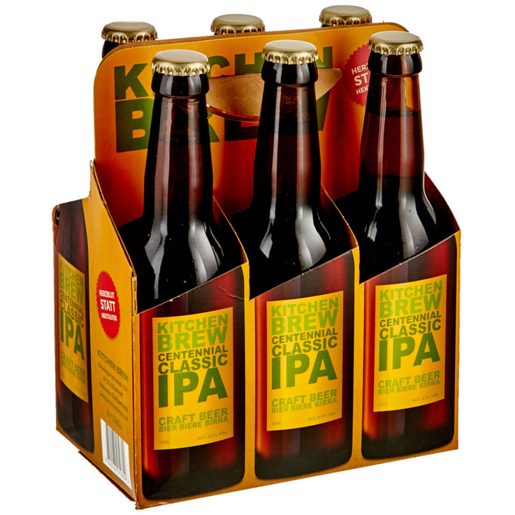 Bottles - Kitchen Brew Centennial IPA Beer 6x33cl