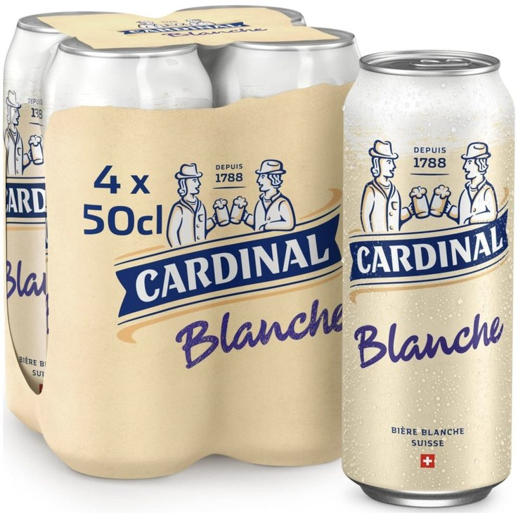 Cans - Cardinal White Beer 4x50cl